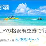 バニラエアで沖縄へ セールが3000円?3500円?